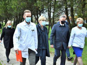 Svečiai apsilankė VšĮ Plungės rajono savivaldybės ligoninėje